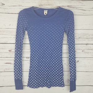 NWOT Free People Waffle Knit LS Thermal